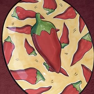 Clay Art California Chip and dip bowl